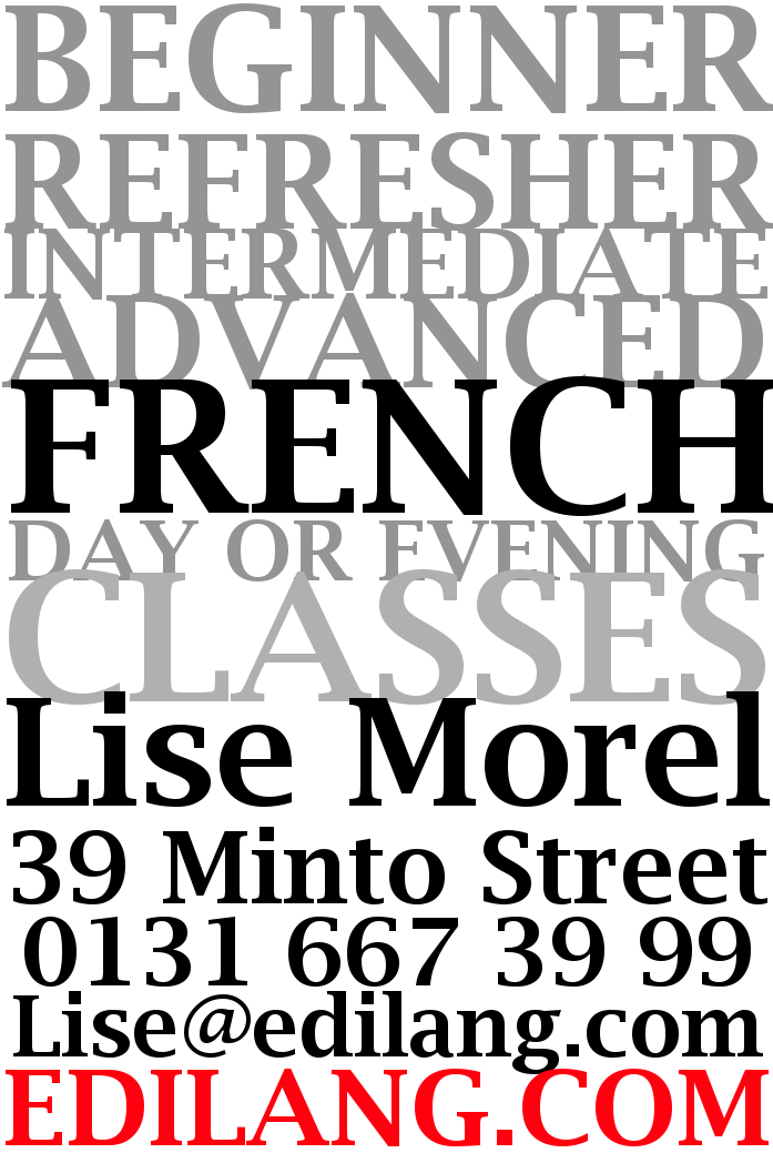French classes in Edinburgh in Minto Street